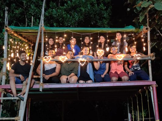 Group Picture In Night Tour| Camping Near Pune