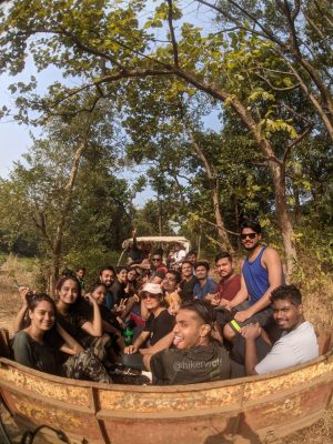 Group On Their Way To Camping Near Pune